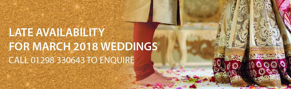 late availability asian weddings